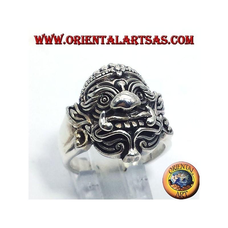 Hanuman Thai anello in argento