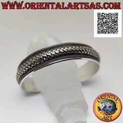 Wide rigid bracelet in 925...