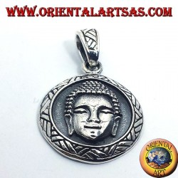 Pendentif argent face buddha