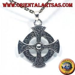 Keltisches Kreuz-Anhänger aus Silber