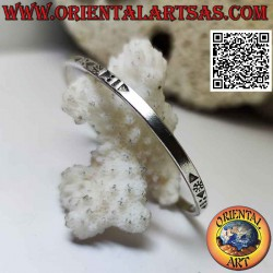 Smooth flat 925 ‰ silver...