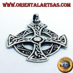 Pendentif croix celtique en argent