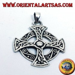 Celtic cross pendant in silver