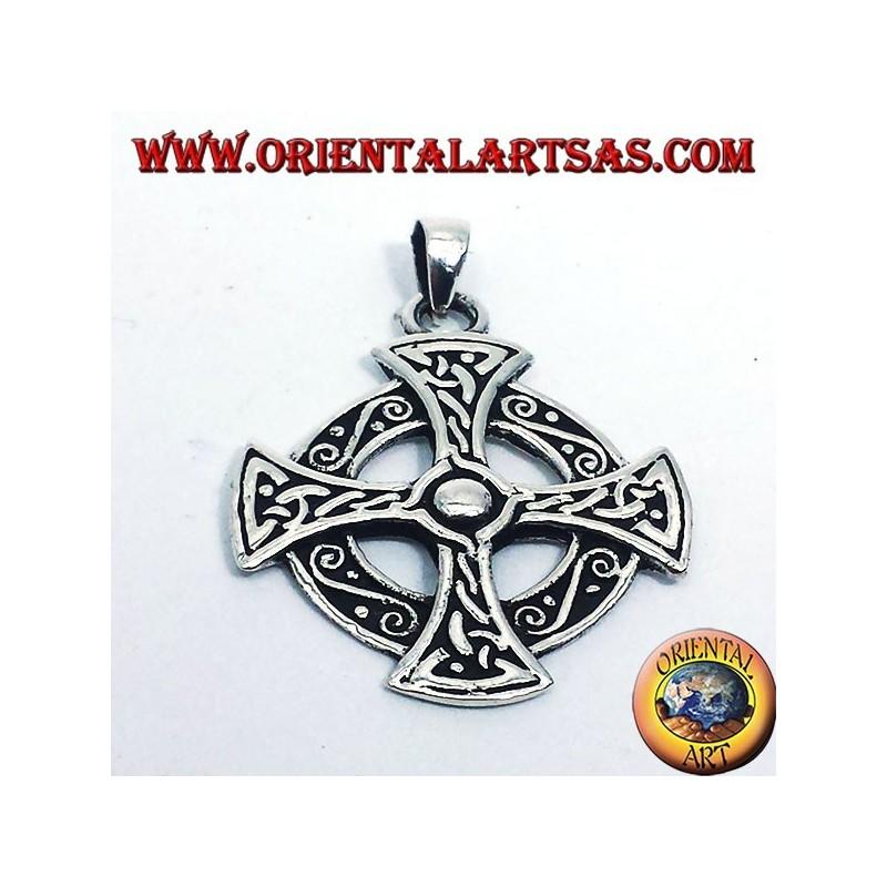 croce celtica ciondolo in argento