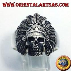 Indian skull ring silver