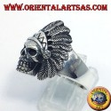 Anello teschio indiano in argento
