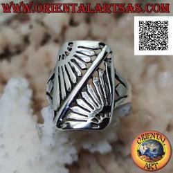 Rectangular silver ring...