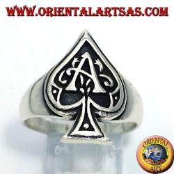Asso di picche anello in argento