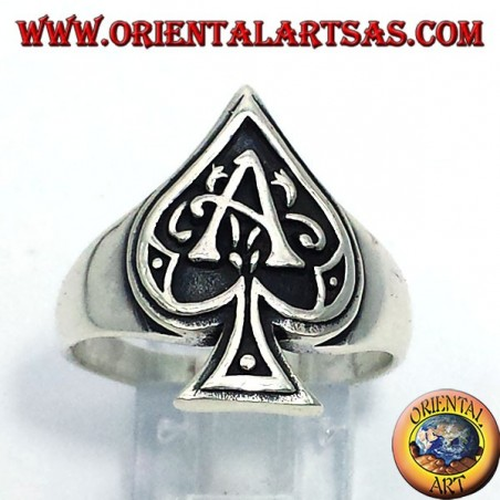 Ace of Spades Silberring