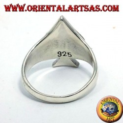 Ace of Spades silver ring