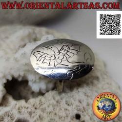 خاتم من الفضة مع صفيحة...