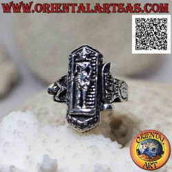 Silver ring with Yaksha...