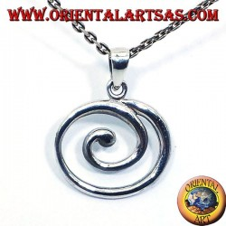 colgante de plata espiral grande
