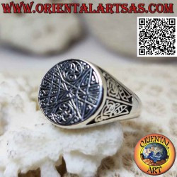 Round silver ring with...