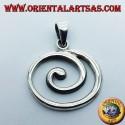 ciondolo in argento spirale grande