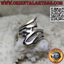 Гладкое серебряное кольцо с...