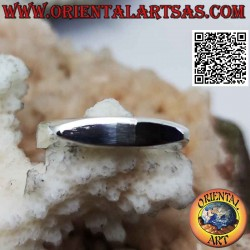 Smooth silver ring...