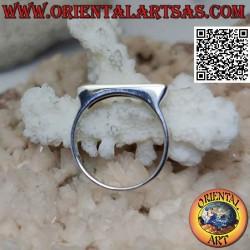 Narrow smooth silver ring...