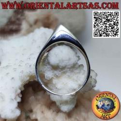 Glatter Silberring mit...