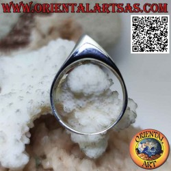 Smooth silver ring with a...
