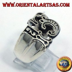anello in argento tredici
