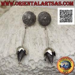Серебряные серьги со...