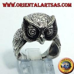Gufo anello in argento