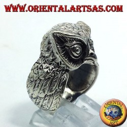 Owl silver ring