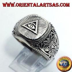 anillo de plata, pirámide de los Illuminati