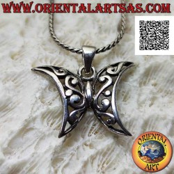 Mariposa colgante de plata...