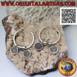 Silver hoop earrings...