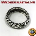 anello in argento fedina intrecciata