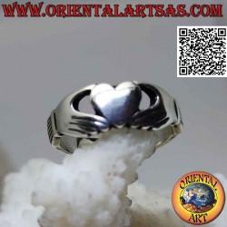 Irish Claddagh silver ring...