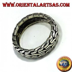 silver ring braided record