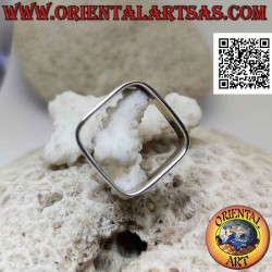 Square silver ring with 6...