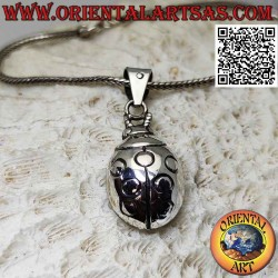 Ladybug-shaped silver...