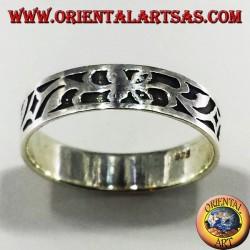 fedina intarsiata in argento