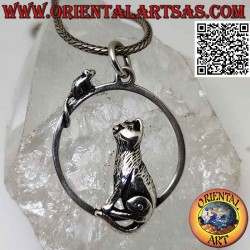 Silver pendant, the sitting...