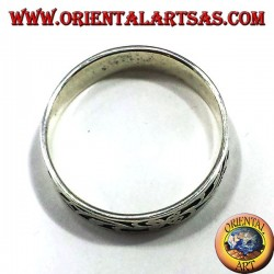 silver wedding ring intertwined