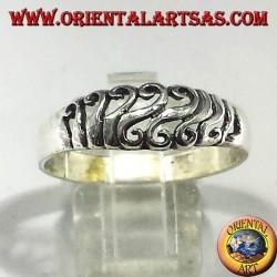 anello traforato in argento