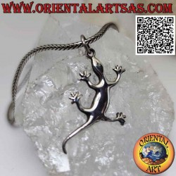 Smooth lizard-shaped silver...