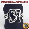 Anello in argento OM traforato simbolo sacro