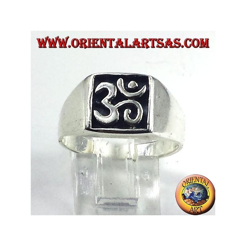 Silber Ring-Dichtung, heiliges Symbol OM