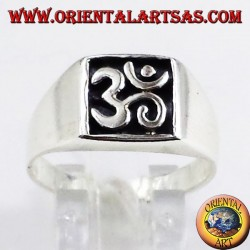 Silver ring seal, sacred symbol OM