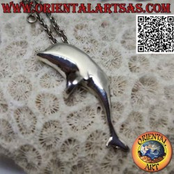 Silver pendant, dolphin of...