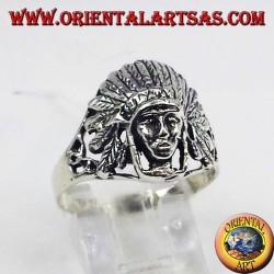 anello in argento nativi indios