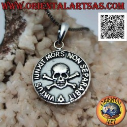 Silver medallion pendant...