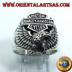 anello in argento Harley Davidson con aquila