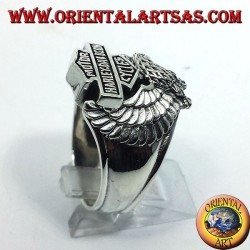 silver ring Harley Davidson Eagle