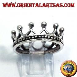 Ring einfache silberne Krone